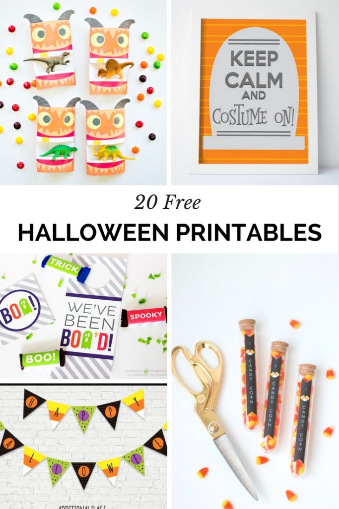 Don't spend money on Halloween decor when you could save on 20 Free (super cute and trendy) Halloween Printables!