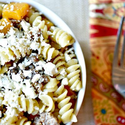 Easy Fall Pasta: Butternut Squash and Sausage Pasta Recipe