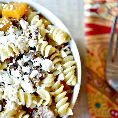 Easy Fall Pasta: Butternut Squash and Sausage Pasta Recipe