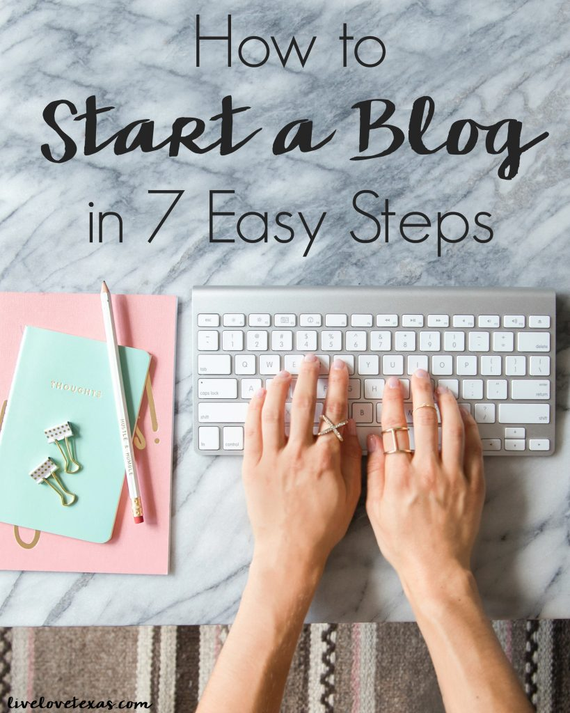 So you want to try your hand at blogging? It's easy with this step-by-step guide! How to Start a blog in 7 easy steps and start making money, too!