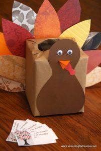 Thanksgiving Gift Box Craft Idea