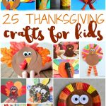 Teach the kids about Thanksgiving and keep them busy while you're cooking dinner with these 25 Thanksgiving Crafts for Kids!