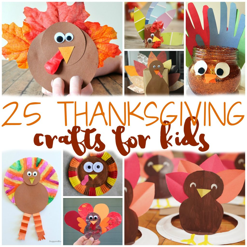 Teach the kids about Thanksgiving and keep them busy while you're cooking dinner with these 25 Easy Thanksgiving Crafts for Kids!