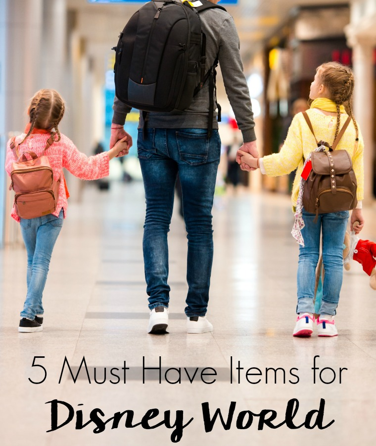 Disney World is magical place but it can be overwhelming and exhausting. Survive and actually enjoy the trip with these 5 Must Have Items for Disney World!