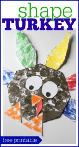 Thanksgiving Craft Shape Turkey