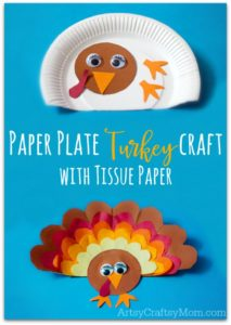 Paper Plate Turkey Thanskgiving Craft