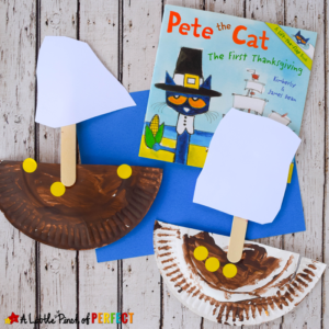 Paper Plate Boats Thanksgiving Craft