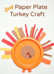 Super Easy Paper Plate Turkey Craft