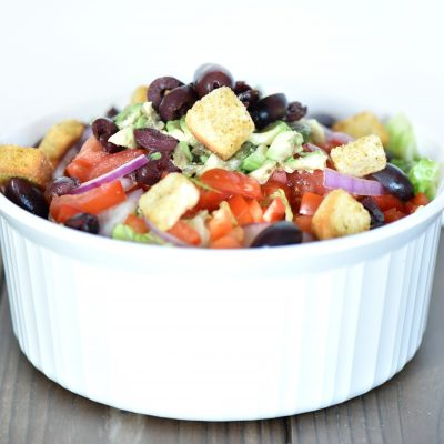 Super Easy Salad Recipe that goes with Lasagna