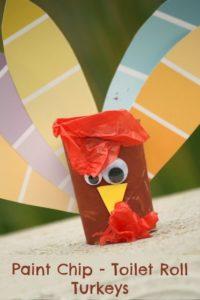 Paint Chip Turkey Thanksgiving Craft