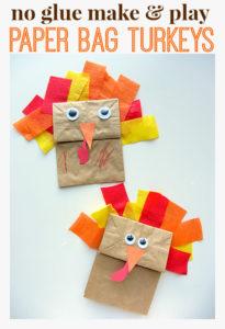 Paper Bag Turkey Thanksgiving Craft Puppet