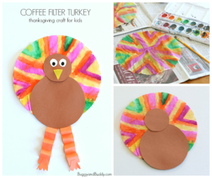 Coffee Filter Thanksgiving Craft