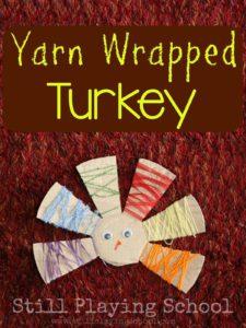 Yarn Wrapped Turkey Thanksgiving Craft