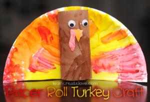 Fingerpainting Turkey Craft for Thanksgiving