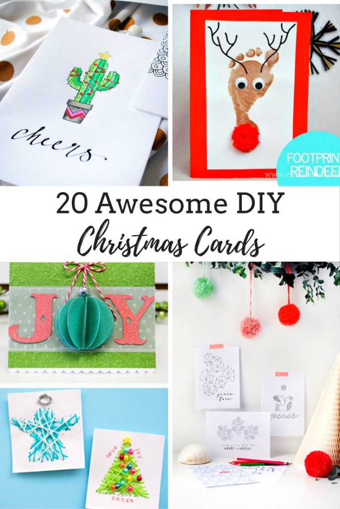 20 DIY Ideas to Make Awesome Christmas Cards This Year