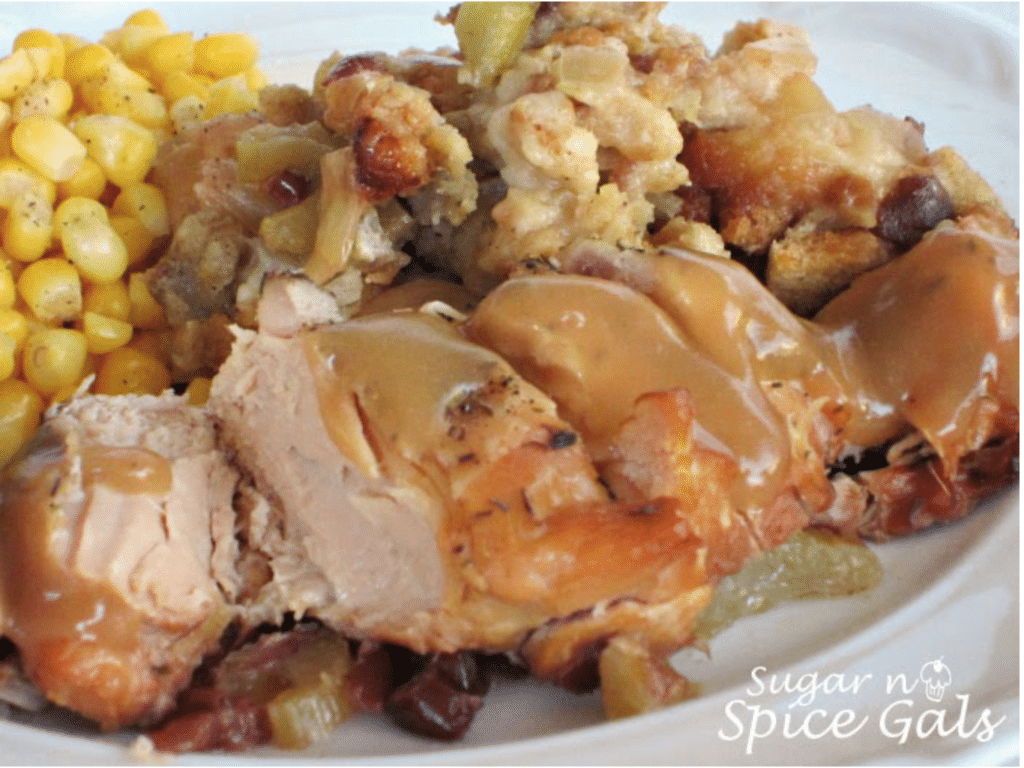 Christmas Slow Cooker Recipe Turkey and Stuffing