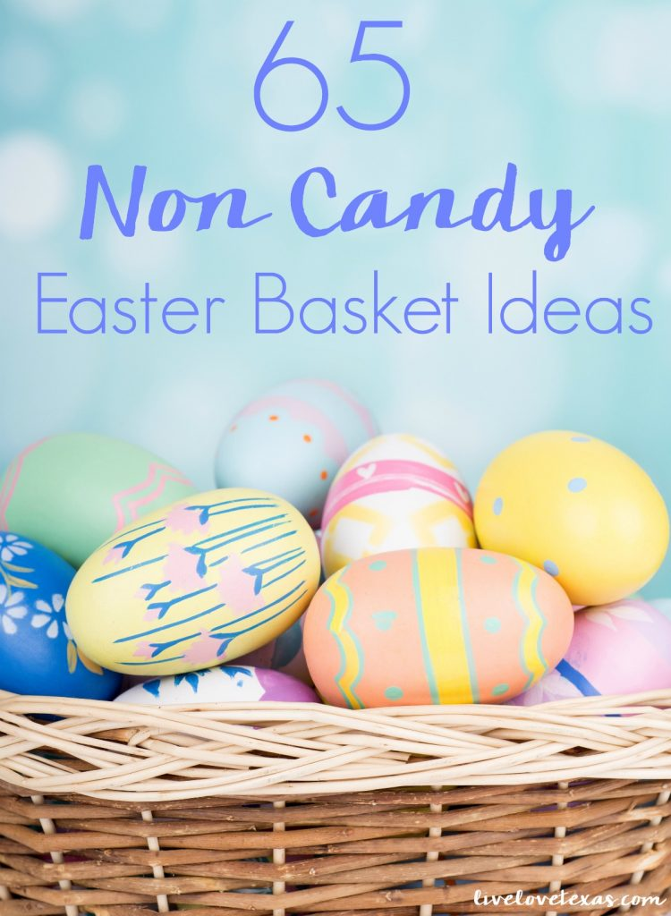 Don't just fill your kids with the expected items. Think beyond chocolate and sugar and instead check out these 65 Non Candy Easter Basket Ideas!