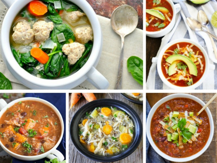 20 Healthy & Delicious Slow Cooker Soup Recipes so you can plop them in the Crock Pot and go!