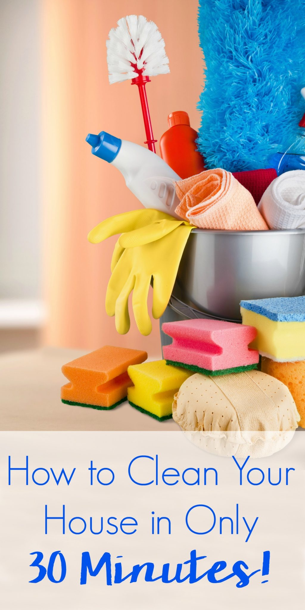 Friends and family stopping by and your house is a wreck? Now it's no problem! Learn How to Clean House in 30 Minutes! #cleaning #cleaningtips