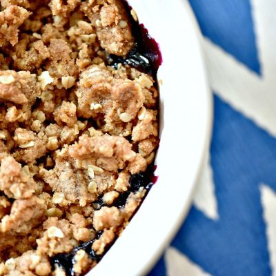 Super Easy 6 Ingredient Blueberry Crisp Recipe