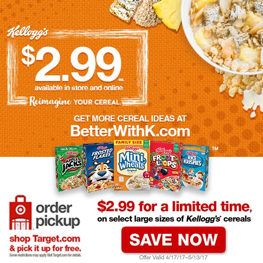 Grab your coupon now and see on your favorite Kellogg's cereals, you will make your little people very happy!