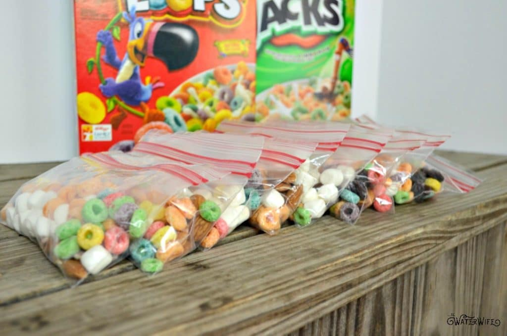 This trail mix is the perfect way to get your kids involved in making an easy on the go snack!