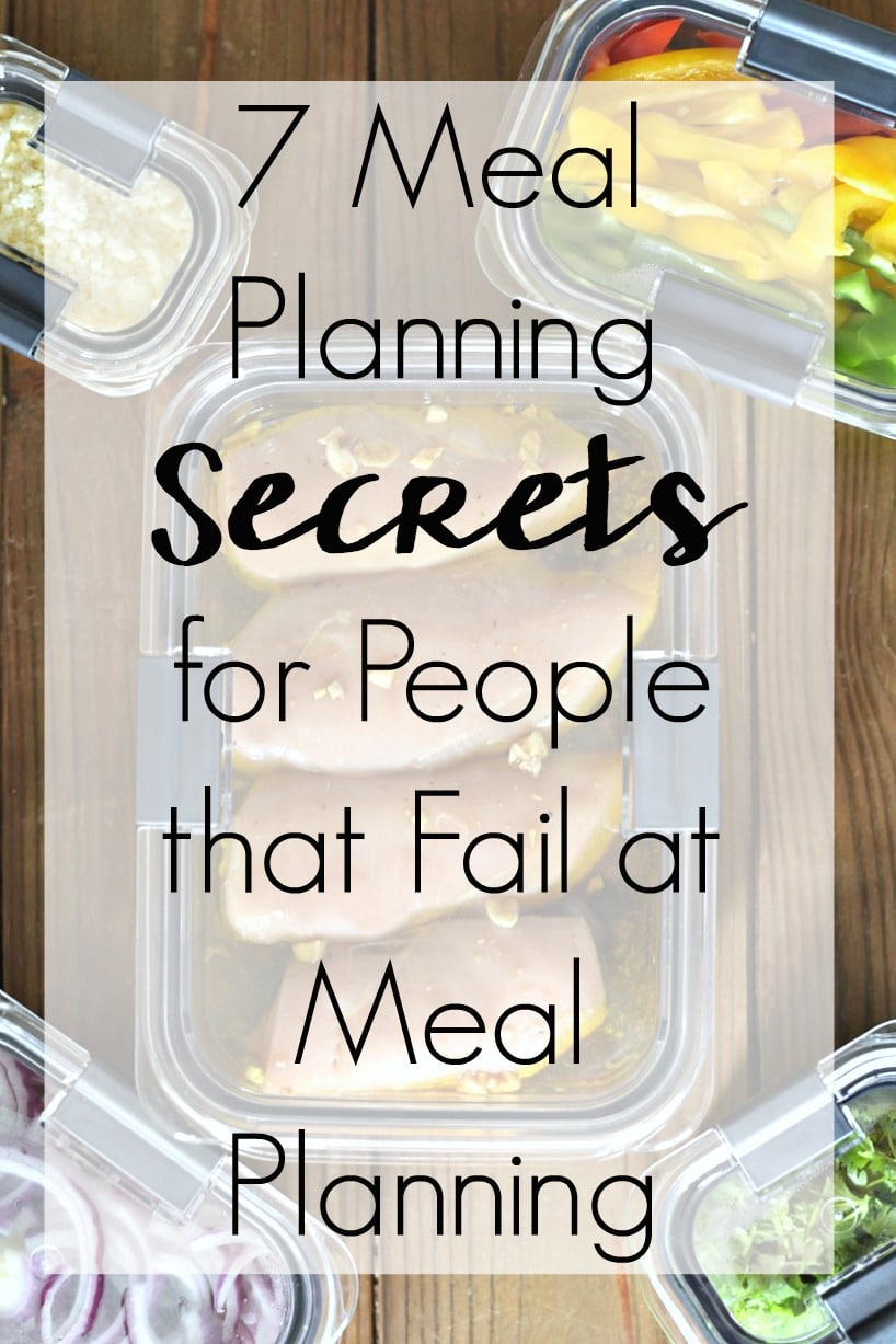 "Don't wait until 5 o'clock when you're asking yourself, ""What's for dinner tonight?"" yet again. I've done that way more times than I can count until I learned how I was doing meal planning all wrong. You don't need to wait as long as I did to figure these out for yourself, try these 7 Meal Planning Secrets for People that Fail at Meal Planning and transform your weekly routine! @Rubbermaid @SheSpeaksUp #StoredBrilliantly #ad"