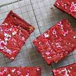 You'll have a hard time not licking the batter off the spoon when you make this Semi-Homemade Red Velvet Cake Bars recipe!