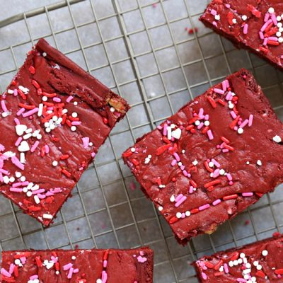 Semi-Homemade Red Velvet Cake Bars Recipe