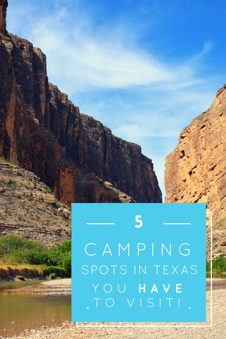 Everything's bigger in Texas...even the camping. Discover the best hidden gems in Texas in the 5 MUST VISIT camping spots in Texas!