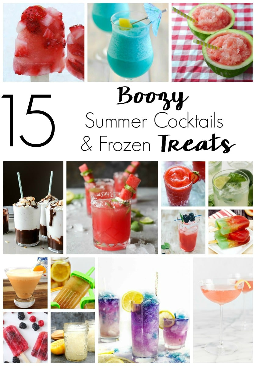 Beat the heat with the best boozy frozen summer recipes. From cocktails to frozen dessert, these recipes are sure to cool you down and chill you out!