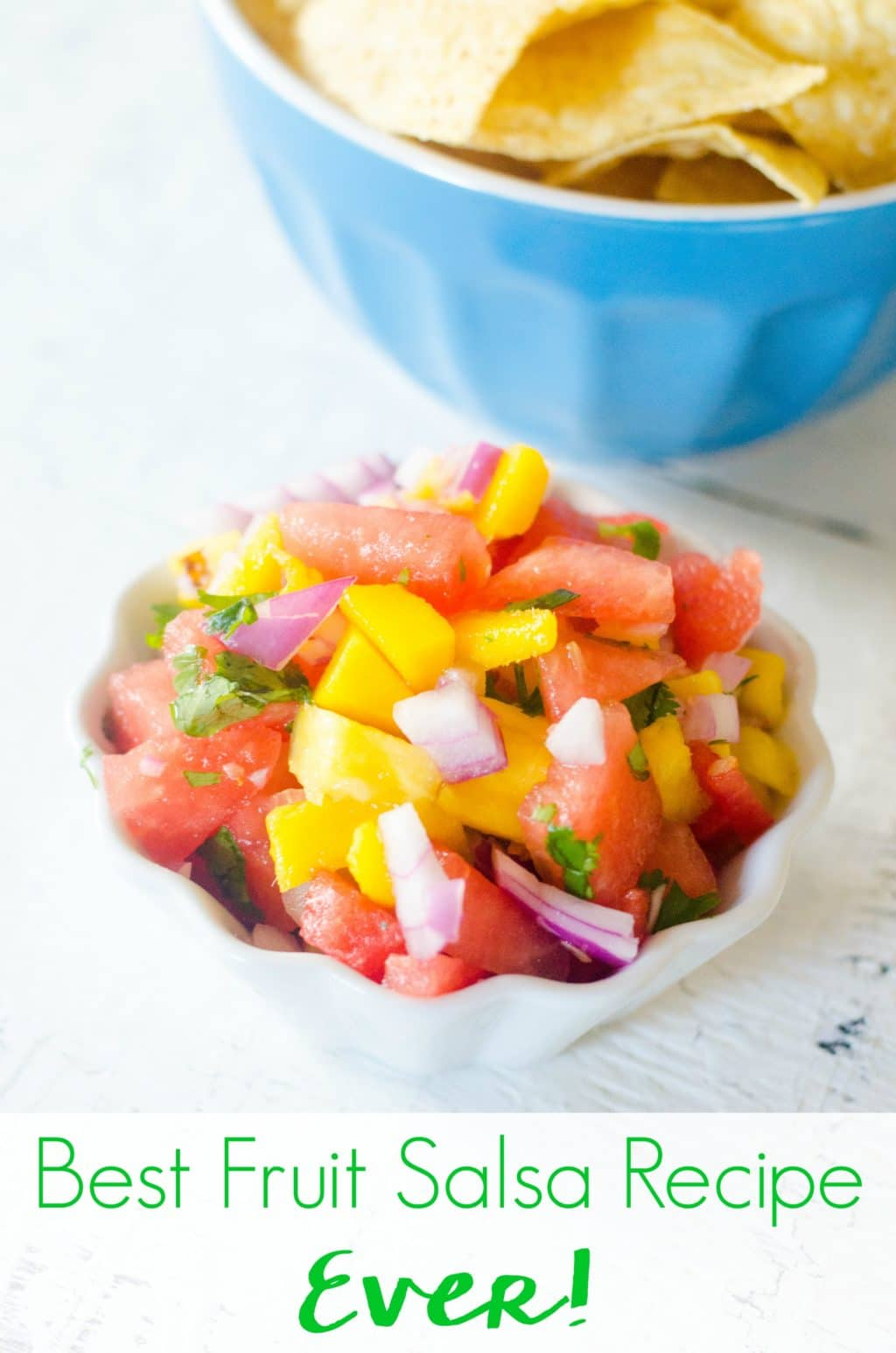 Looking for the best fruit salsa recipe ever? You've found it! This easy to make recipe is great on tacos, chips, and a great tropical fruit salsa for fish!