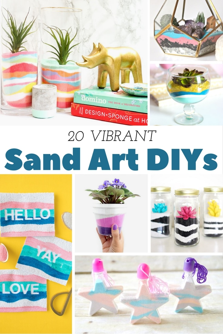 These sand art DIY projects will make you want to make a trip to the beach just so you can get your craft on!