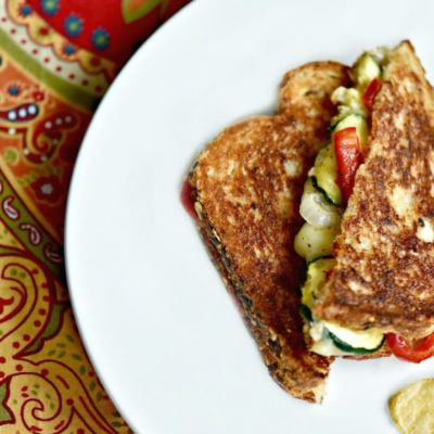 Crispy & Simple Grilled Cheese Sandwich with Veggies Recipe