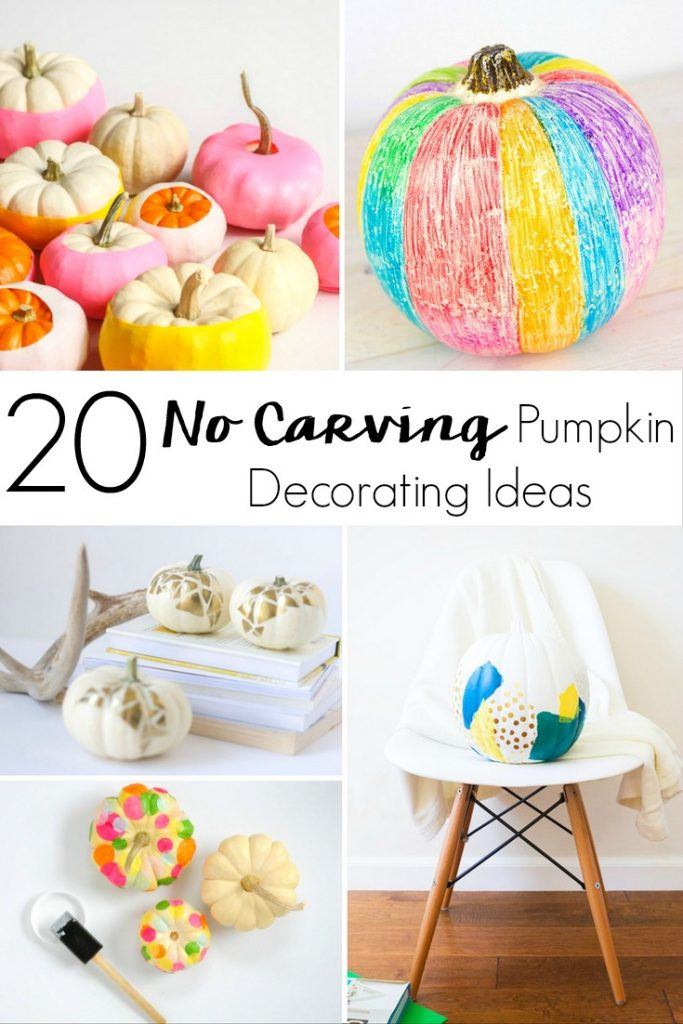 Are you ready to create a haunted house? Try these 20 No Carving Pumpkin Decorating Ideas for a festive house without the mess this Halloween.