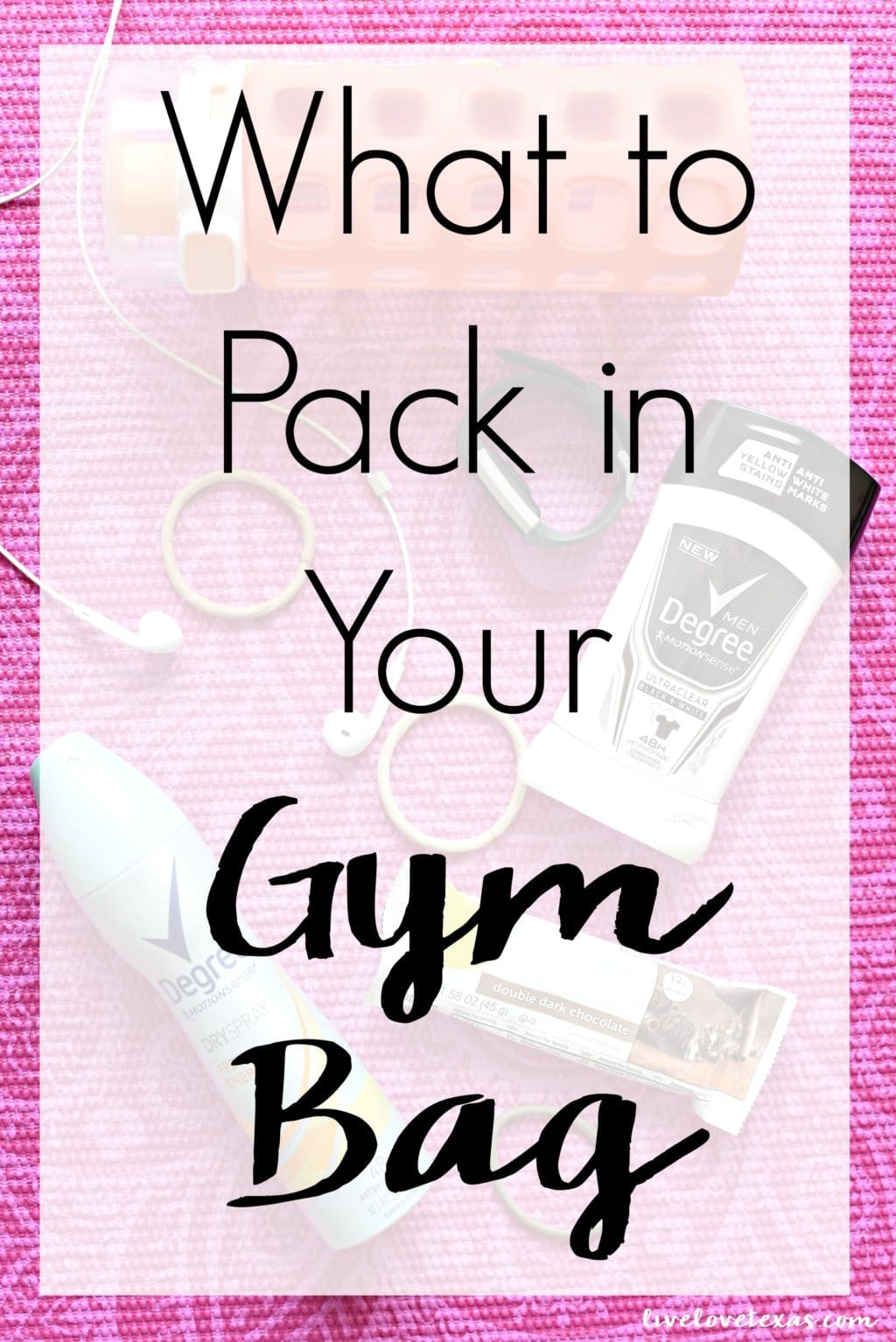 Heading to the gym? Don't leave home without learning What to Pack in Your Gym Bag so you're ready to get the most from your workout!