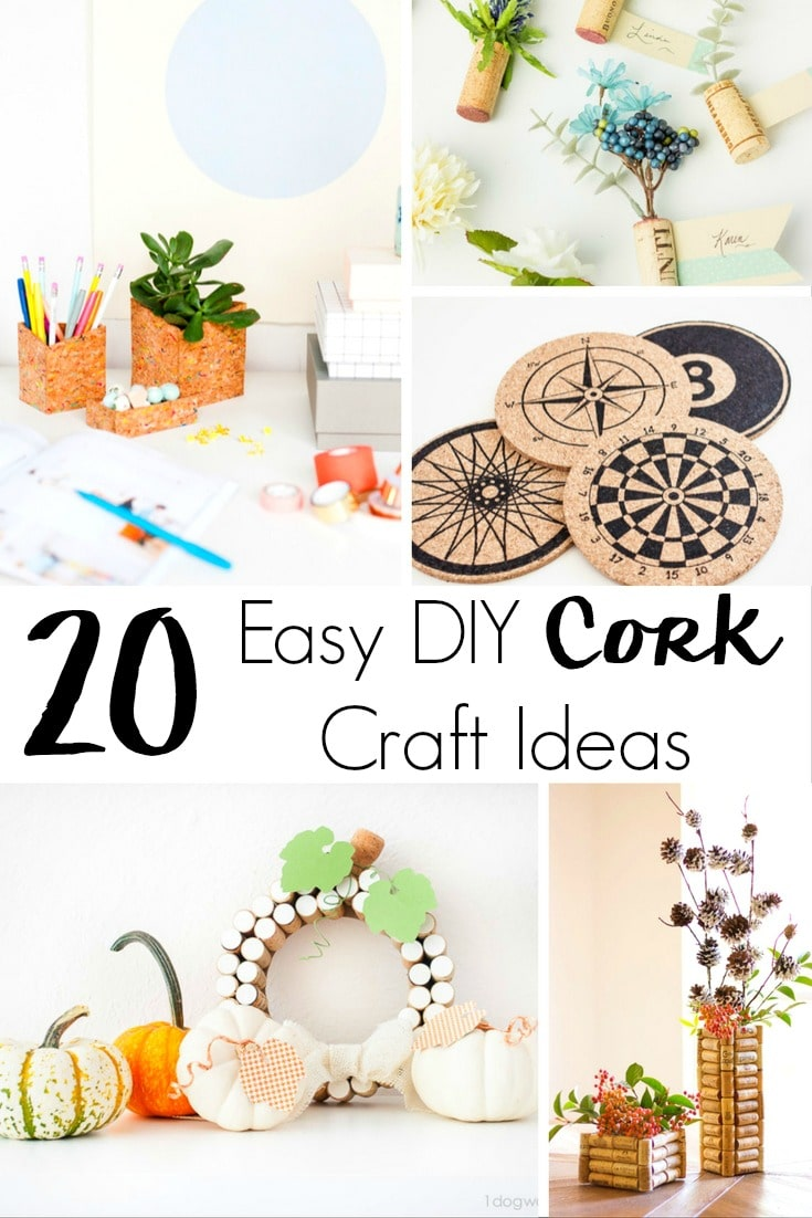 Are you craft challenged but still love to try? Check out this roundup of 20 Super Easy DIY Cork Craft Ideas for Your Home!