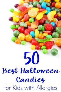 Let all kids have fun while staying safe trick or treating. Stock up on this list with the best Halloween candy for kids with allergies with 50 ideas!