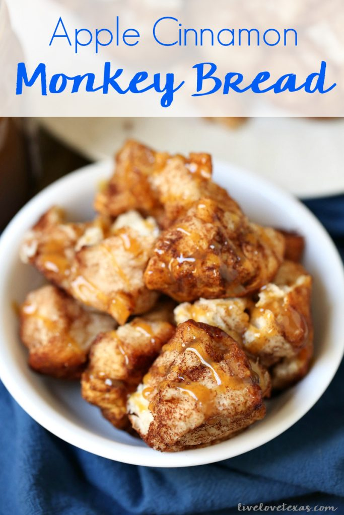 Don't stress over fall entertaining or deciding which breakfast or dessert recipe to make. Instead, try this easy monkey bread recipe with biscuits plus five other ingredients which come together to make Apple Cinnamon Monkey Bread! #applerecipes #monkeybreadrecipes #monkeybread #applecinnamonmonkeybread #fallrecipes #christmasmorning #holidayrecipes #apple #applecinnamon #easyrecipes #easyrecipe #recipe #recipes #breakfastrecipes #brunchrecipes #fallfood #fallcooking #holidaybreakfast #holidaybrunch