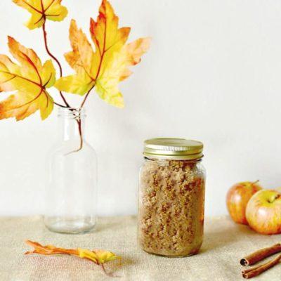 I'm Falling for This Homemade Apple Cinnamon Sugar Scrub Recipe