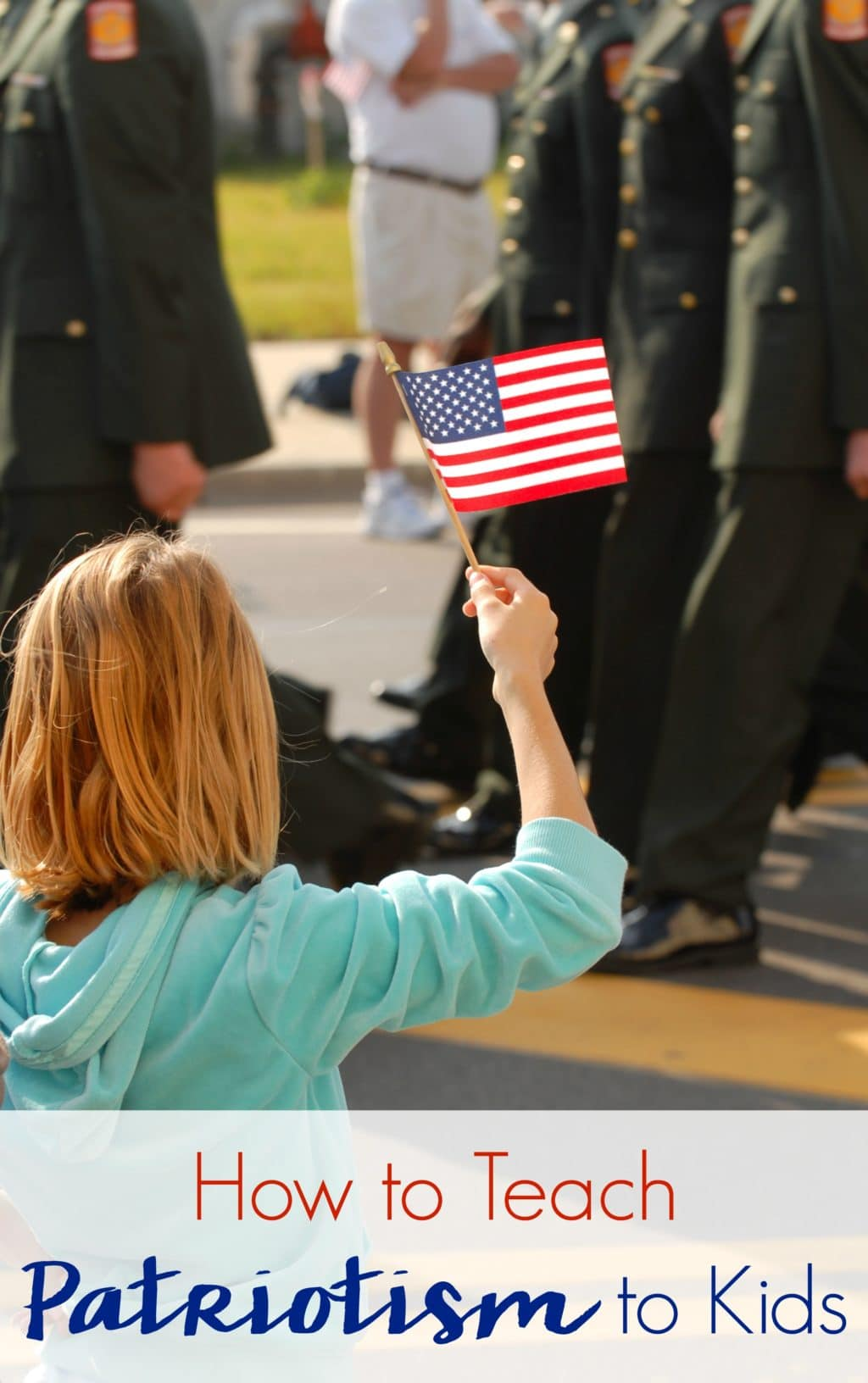 Teaching patriotism to kids goes beyond celebrating Independence Day together. This is an ongoing conversation and you can keep it going with these steps. #patriotism #patriotic #usa #teachingmoment #military #veterans #militaryappreciation #veteransday #patriotismforkids