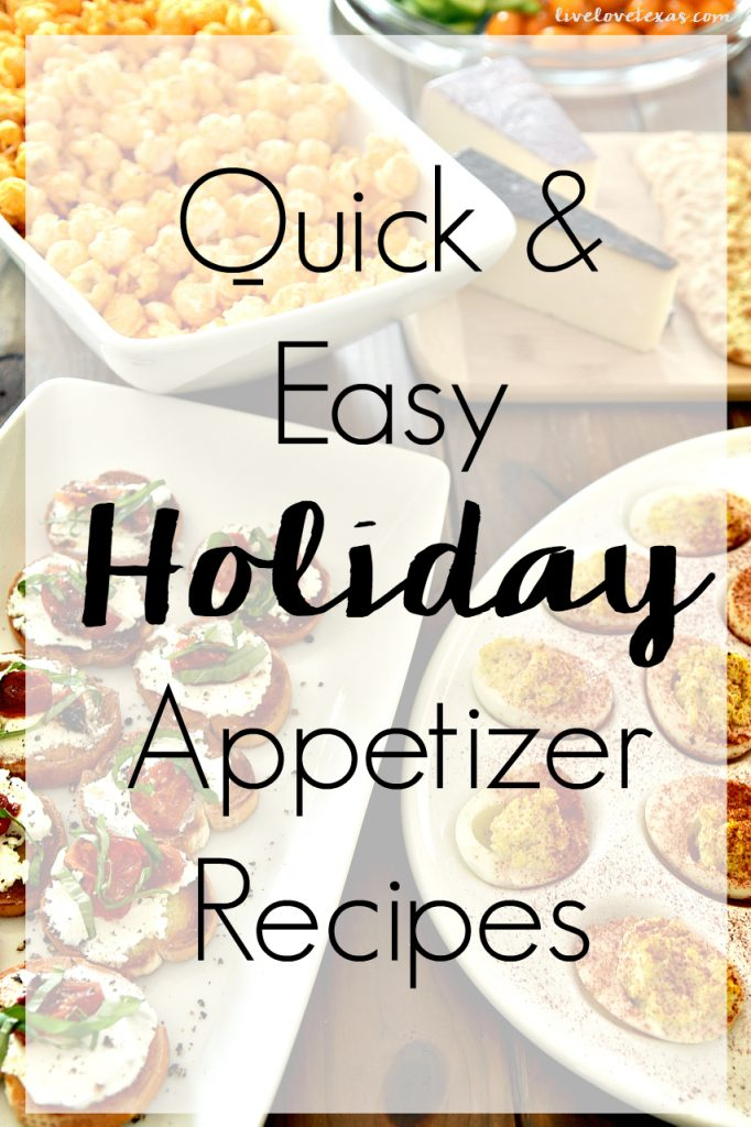 The holidays are crazy enough without all the cooking and entertaining. Try these quick & easy holiday appetizer recipes to make the holidays stress free!