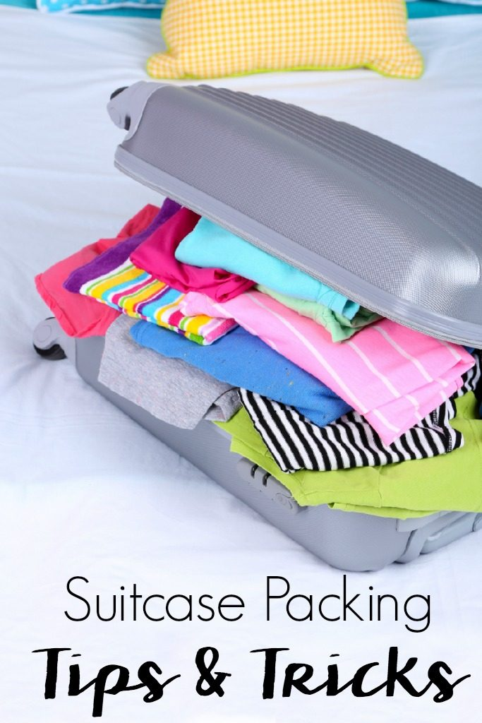 Traveling can be stressful if you don't plan ahead. These 7 Suitcase Packing Tips & Tricks for Vacation will ensure you have what you need in less space.