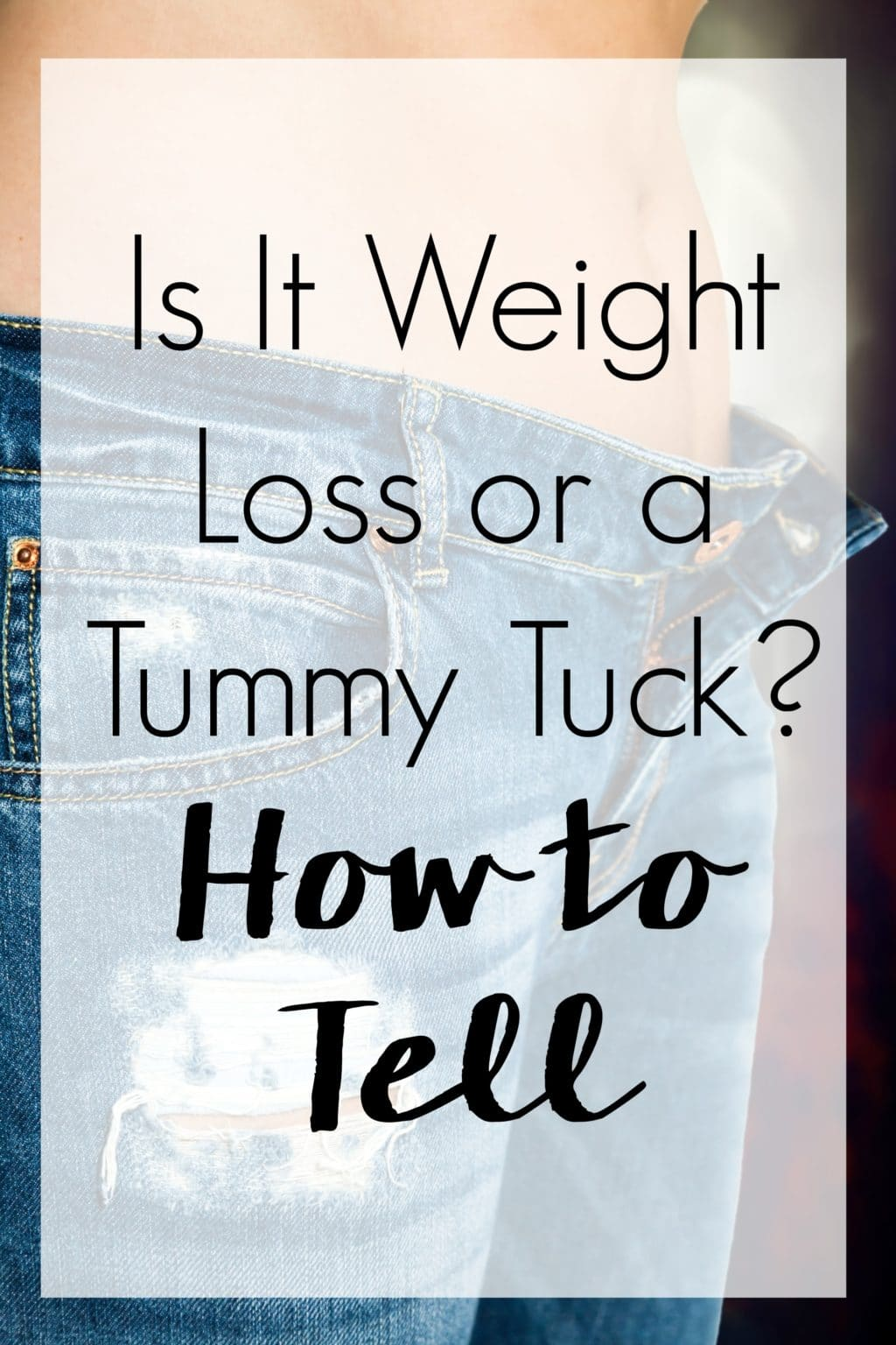Pins can be deceiving. Is it weight loss or tummy tuck surgery you're seeing in those before and after photos? Here's a simple guide so you can tell.