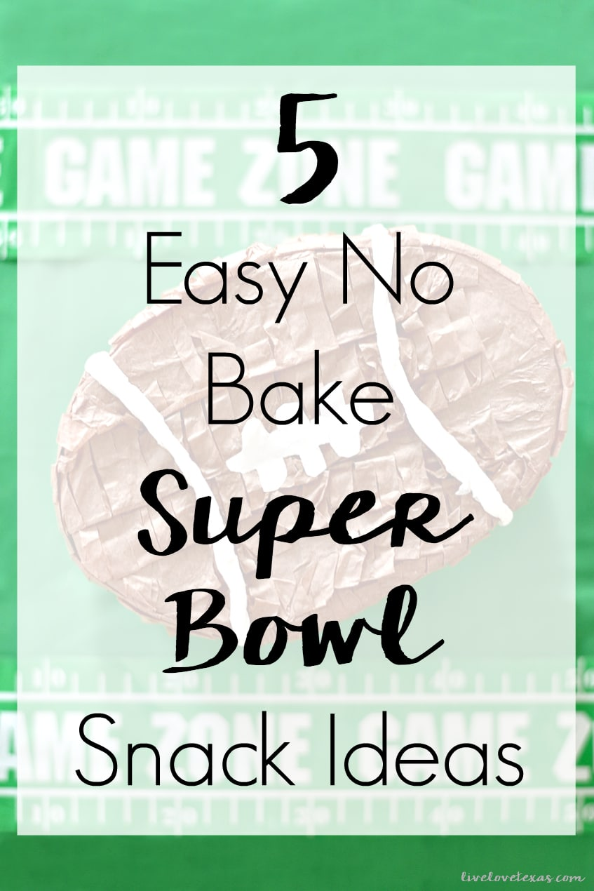 Don't spend more time than you have to in the kitchen during the big game. Try these 5 Easy No Bake Super Bowl Snacks Ideas to make party planning simple!