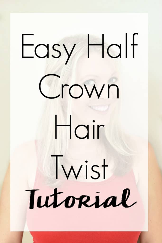 Take your hair game to the next level with this easy half crown hair twist tutorial. A simple style that doesn't require heat, but that looks feminine without any advanced skills.