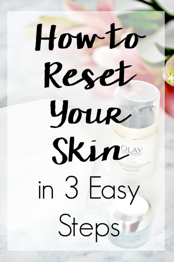 After the indulgence of the holiday season, it's now time for a reset. Learn How to Reset Your Skin in 3 Easy Steps for noticeably healthier skin almost instantly!