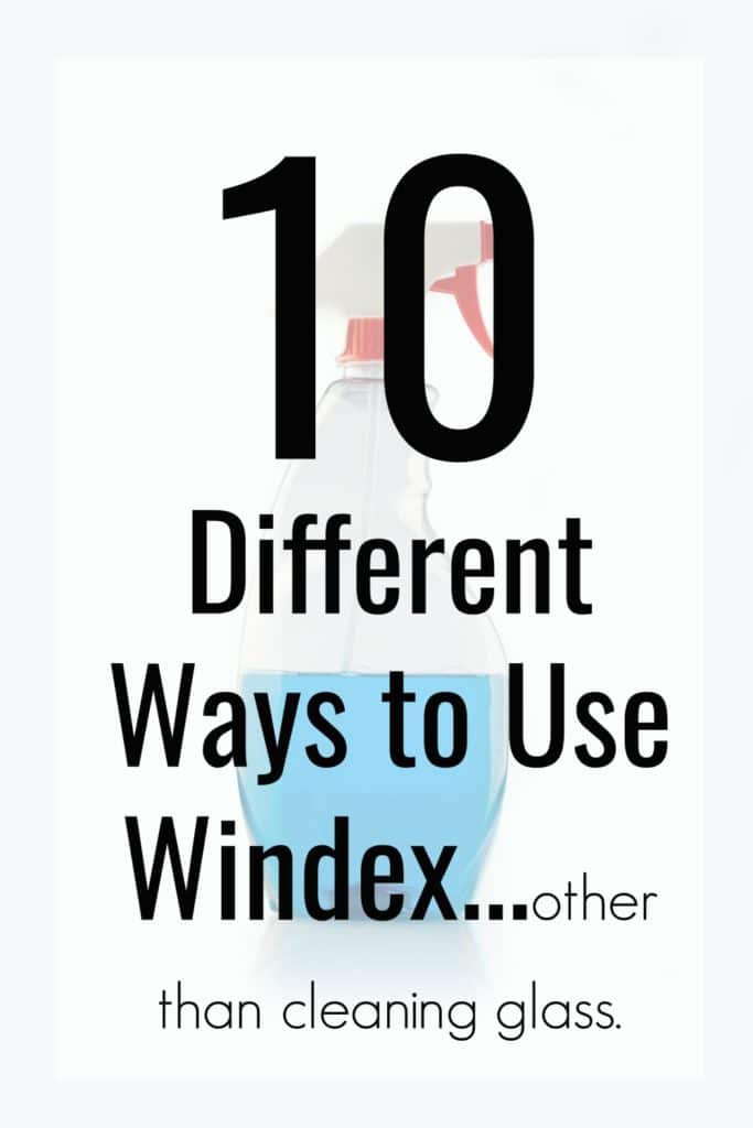Do you remember in My Big Fat Greek Wedding the dad was always walking around with Windex and putting it on everything? Well who knew that guy knew something the rest of us didn't. Here are 10 different uses for Windex other than just cleaning windows in your home!