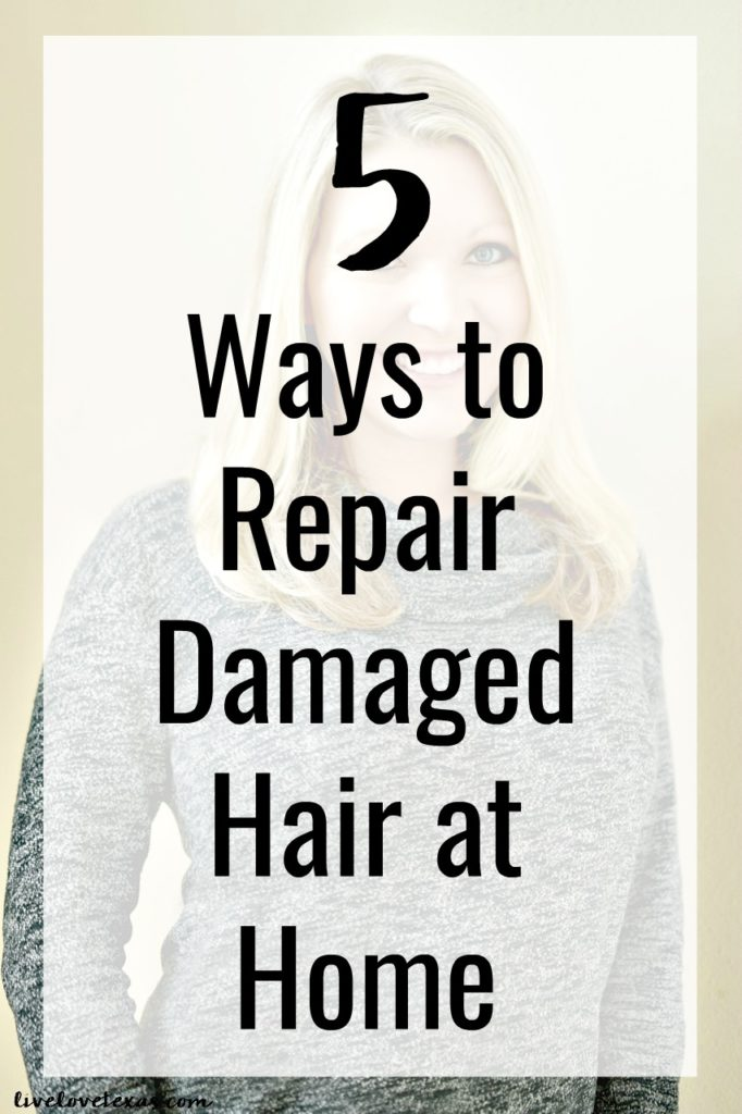 We all want long, healthy, beautiful hair. But having that comes at a price. When you don't keep up with it, or neglect self care as we moms so often do, your hair can suffer. Today I'm sharing 5 Ways to Repair Damaged Hair at Home so you can have the hair that you've always dreamed about.