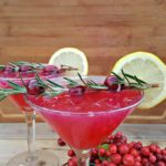 This fresh cranberry lemon drop martini recipe is a little bit sweet, a little bit tart, and every bit refreshing and simple. You'll make your own simple syrup using cranberries, water, and sugar as the base for this martini recipe.
